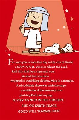 Charlie brown christmas linus monologue text